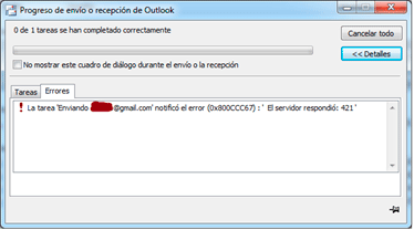 421 Error en Outlook Causado Por Avast - Preguntas